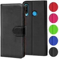 Verco Hülle für Huawei P30 Lite Handyhülle Handy Tasche PU Leder Flip Case Etui