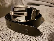 """GIORGIO ARMANI  Black Belt for Men Genuine Leather size 36"""" - 38"""""""