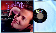 """PAT BOONE - TENDERLY  + 3  - DOT LABEL - 7""""  EXTENDED PLAY"""