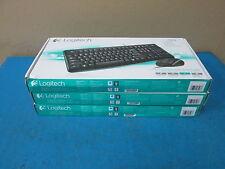 LOT OF 3 Logitech mk120 Wired Desktop Mouse & Keyboard Bundle 920-002565