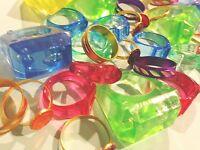 lot 75 kid's rings assortment children's jewelry Trinket Carnival Prizes Dentist