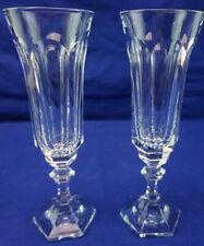 """Cristal de Sevres Chenonceaux (2) Fluted Champagne Glasses, 8"""""""