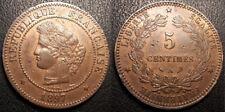 France - IIIème République - 5 centimes Cérès 1897A, Paris  QUALITE - F.118/40
