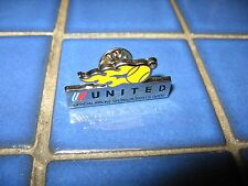 UNITED AIRLINES OFFICIAL U.S. OPEN TENNIS SPONSOR PIN VINTAGE TULIP 2003 CHROME