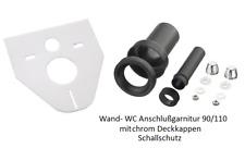 Schallschutz-Set für Wand- WC 422 x372mm  WC-Anschlußgarnitur 90/110 mm 180mm