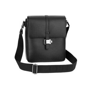 MONTBLANC MEISTERSTUCK WESTSIDE BLACK LEATHER NORTH SOUTH SMALL BAG 104612 NEW