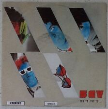 """5CV / CINQ CHEVAUX Try to try to RARE 7"""" (LISTEN) 1984 new wave-funk BELGIUM"""