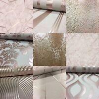 Rose Gold Wallpaper Various Designs Luxury Glitter Effect Metallic Modern Shiny