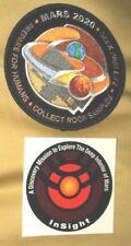 Orig Atlas V NASA MARS 2020 & USAF InSight Satellite Launch Patch & Sticker-2pcs