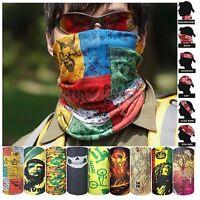 Head Face Mask Bandanas Neck Gaiter Snood Headwear Tube Wrap Scarf For Sports