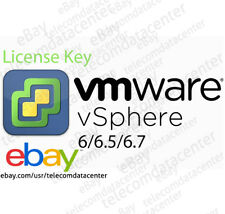VMWARE ESXI VSphere 6.0/6.5/6.7 License Key Only - Unlimited CPUs - No Expiry