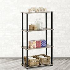 Furinno Turn-N-Tube Black Simple Design Display Open Bookcase Storage Unit