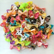 200PCS/lot Dogs mix bow elastic rubber bands Dog Puppy Hair rope Pet Accessories