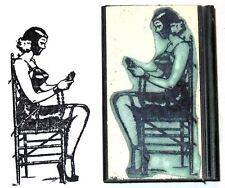 Bondage rubber stamp Chair Bound
