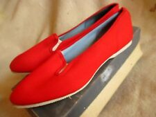 Nos New 8.5M 8.5 Vtg 60s Red Pacette Sumerettes canvas Sneaker Shoes Made In Usa