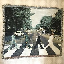 "The Beatles Abbey Road Throw Blanket Knit Afghan 2007 58"" X 48"" Tapestry RARE"