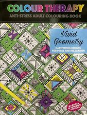 Adult Colouring Therapy Anti-Stress 64 Page A4 Vivid Geometry Book Mind Relaxing