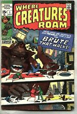 Where Creatures Roam #1-1970 vg+ Jack Kirby Steve Ditko