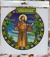 St. Saint Francis  - Static Cling Reusable Vinyl Window Decal Sticker