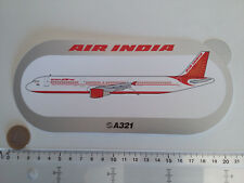 STICKER AIRBUS AUTOCOLLANT A321 AIR INDIA AIRLINES AUFKLEBER INDUSTRIES INDE NEW
