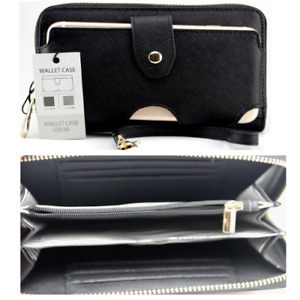"6"" Saffiano Smartphone Wallet Case Purse Pouch For iPhone 11/XR 12 7 PLUS 8+"