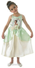 Tiana Disney Princess Fancy Dress Costume Girls Outfit Childrens Childs Kids L