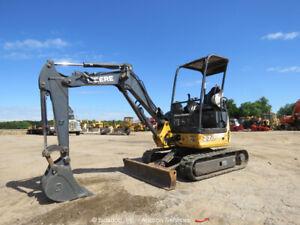 2013 John Deere 27D Mini Excavator Trackhoe Swing Boom Aux Hyd bidadoo