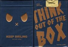 Keep Smiling Blue v2 Playing Cards Poker Size Deck MPC Custom Limited New