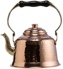 Thick 1mm Hammered Copper Stovetop Teapot Turkish Tea Kettle Pot Handmade,1.6Qts
