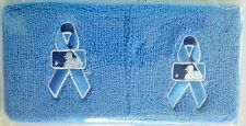 MLB Blue Wristbands (2) Prostate Cancer Awareness Father's Day *Game Issued* NEW