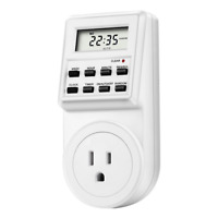 Timer Switch Socket Digital LCD Power Energy-saving Plug-in US Socket 120V 15A