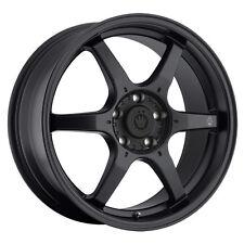 4-NEW Konig 30B Backbone 15x6.5 4x100 +38mm Matte Black Wheels Rims