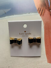 BN Kate Spade Take The Bow Stud Earrings - Black/Gold