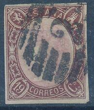 España - Correo- Año: 1865 - numero 00071 - US Isabel II 4 margenes / Bonito / G