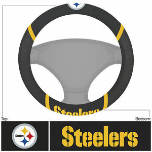 NFL Pittsburgh Steelers Embroidered Car Truck Steering Wheel Cover