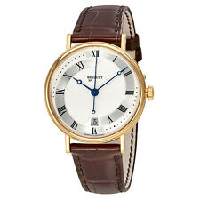 Breguet Classique Automatic  Silver Dial Mens Leather Watch 5197BA/15/986