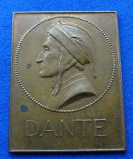 Italien - Bronzeplakette o.J (Mayer & Wilhelm) - Dante Alighieri 1265-1321