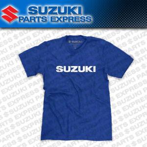 NEW GENUINE SUZUKI BLUE LOGO TEE T-SHIRT GSXR 600 750 1000 MOTO MX 990A0-16242