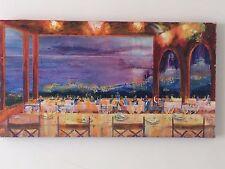 Brasilian Oil Original Modern Painting South America Evening Lights