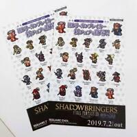 Final Fantasy XIV Job Sticker SHADOW BRINGERS 2 pieces Square Enix FF14