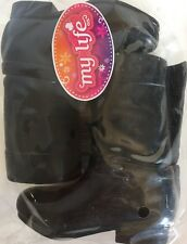 "18"" Doll TALL BLACK FASHION BOOTS My Life As Girl Dolls Accessory Shoes NEW NIP"