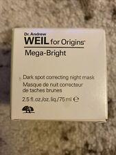 Origins Weil Mega Bright Dark Spot Correcting Night Mask 2.5 oz. *Nib*