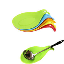 Kitchen Silicone Spoon Rest Heat Resistant Kit Spatula Holder Cooking Tool New