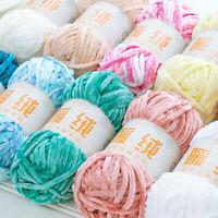 DIY Soft Wool Velvet Crochet Silk Cashmere Baby Yarn Cotton Sweater