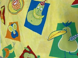 Ikea 2 Panels Curtains Table Cloths Bed Sheets Fabric Yellow Novelty Print Fruit