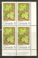 Canada #536, 1971 6c Summer Maple Leaf, PB4 Unused NH