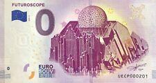 BILLET 0 ZERO EURO SOUVENIR  TOURISTIQUE FUTUROSCOPE 2019-3 PETIT N° 201 A 250