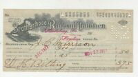 BROTHERHOOD OF RAILROAD TRAINMEN MONTHLY LODGE DUES RECEIPT OLD 1917