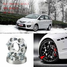 """4pcs 1"""" Wheel Spacers Adapters 5 Lug 5x4.5""""/5x114.3-12x1.5 Studs For Mazda 5 05+"""