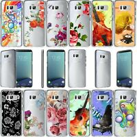 For Samsung Galaxy Note 8 SM-N950 Slim Fit Durable Clear TPU Case -Flower